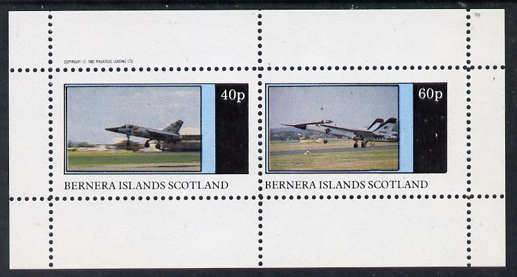 Bernera 1982 Military Jets perf  set of 2 values (40p & 60p) unmounted mint