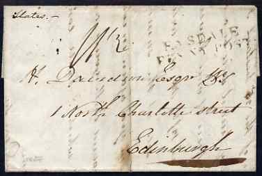 Great Britain 1827 prestamp entire from Easdale Island to Edinburgh with Easdale PENNY POST postmark and OBAN cds on reverse