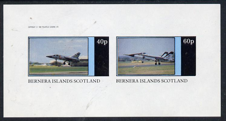 Bernera 1982 Military Jets imperf  set of 2 values (40p & 60p) unmounted mint