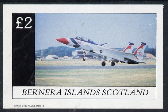 Bernera 1982 Military Jets imperf deluxe sheet (�2 value) unmounted mint