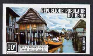 Benin 1977 Tourism 60f Stilt Houses imperf from limited printing, unmounted mint as SG675