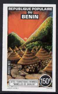 Benin 1977 Tourism 150f Hut Village imperf from limited printing, unmounted mint as SG676