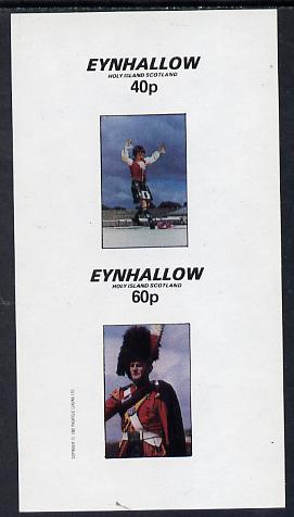 Eynhallow 1982 Scottish National Dress imperf set of 2 unmounted mint