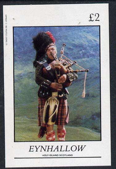Eynhallow 1982 Scottish National Dress (Piper) imperf deluxe sheet (�2 value) unmounted mintunmounted mint