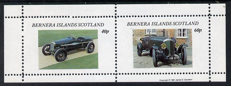 Bernera 1981 Vintage Cars perf  set of 2 values (40p & 60p) unmounted mint, stamps on cars
