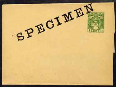 Zanzibar 1899 1a postal stationery wrapper opt\D5d SPECIMEN, fine