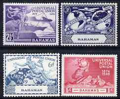 Bahamas 1949 KG6 75th Anniversary of Universal Postal Union set of 4 mounted mint, SG 196-9