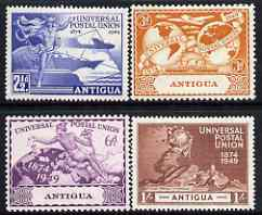 Antigua 1949 KG6 75th Anniversary of Universal Postal Union set of 4 mounted mint, SG 114-17, stamps on , stamps on  kg6 , stamps on  upu , stamps on