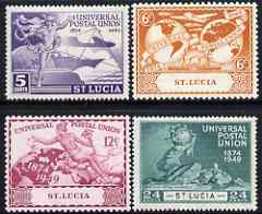 St Lucia 1949 KG6 75th Anniversary of Universal Postal Union set of 4 mounted mint, SG 160-63