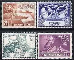 Pitcairn Islands 1949 KG6 75th Anniversary of Universal Postal Union set of 4 mounted mint, SG 13-16
