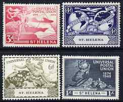 St Helena 1949 KG6 75th Anniversary of Universal Postal Union set of 4 mounted mint, SG 145-48