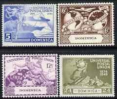 Dominica 1949 KG6 75th Anniversary of Universal Postal Union set of 4 mounted mint, SG114-17