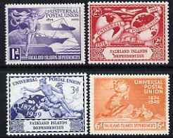 Falkland Islands Dependencies 1949 KG6 75th Anniversary of Universal Postal Union set of 4 mounted mint, SG G21-4
