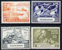 Barbados 1949 KG6 75th Anniversary of Universal Postal Union set of 4 mounted mint, SG267-70