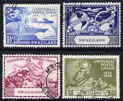 Swaziland 1949 KG6 75th Anniversary of Universal Postal Union set of 4 cds used SG 48-51