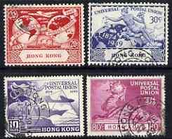 Hong Kong 1949 KG6 75th Anniversary of Universal Postal Union set of 4 cds used, SG173-76