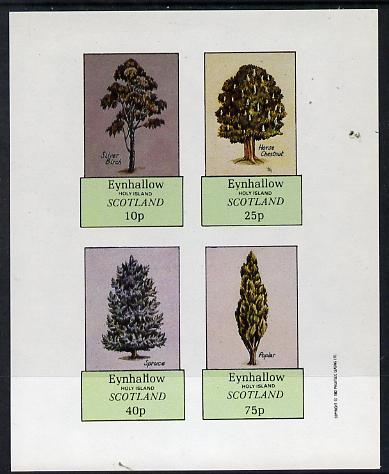 Eynhallow 1982 Trees (Silver Birch, Horse Chestnut, Spruce, Poplar) imperf  set of 4 values (10p to 75p) unmounted mint