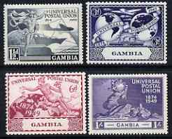 Gambia 1949 KG6 75th Anniversary of Universal Postal Union set of 4 mounted mint, SG166-9