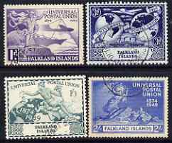 Falkland Islands 1949 KG6 75th Anniversary of Universal Postal Union set of 4 mounted mint, SG168-71