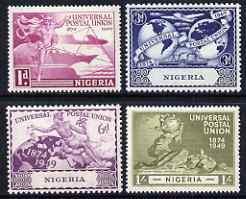 Nigeria 1949 KG6 75th Anniversary of Universal Postal Union set of 4 mounted mint, SG 64-67