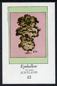 Eynhallow 1982 Trees (Elm) imperf deluxe sheet (�2 value) unmounted mint