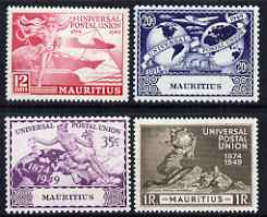 Mauritius 1949 KG6 75th Anniversary of Universal Postal Union set of 4 mounted mint, SG 272-5
