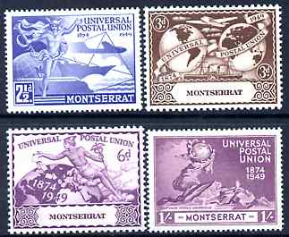 Montserrat 1949 KG6 75th Anniversary of Universal Postal Union set of 4 mounted mint, SG 117-20