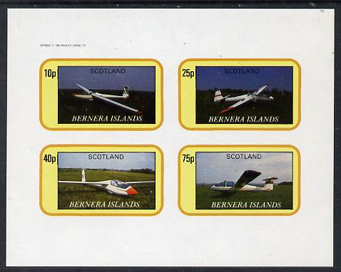 Bernera 1982 Gliders imperf  set of 4 values (10p to 75p) unmounted mint