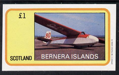 Bernera 1982 Gliders imperf souvenir sheet (�1 value) unmounted mint