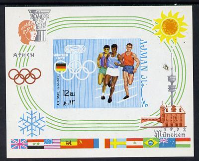 Ajman 1970 Olympics imperf m/sheet unmounted mint (Mi BL 195B)