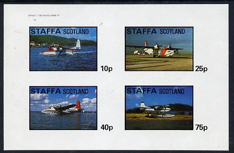 Staffa 1982 Sea Planes imperf  set of 4 values (10p to 75p) unmounted mint