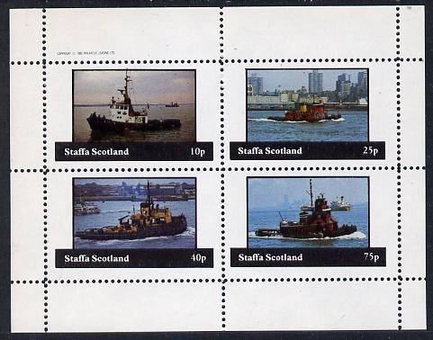 Staffa 1982 Tugs perf  set of 4 values (10p to 75p) unmounted mint