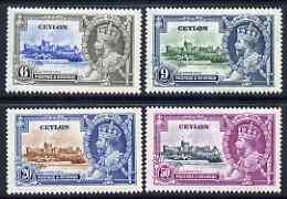 Ceylon 1935 KG5 Silver Jubilee set of 4, mounted mint SG 379-82