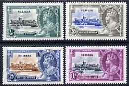 St Lucia 1935 KG5 Silver Jubilee set of 4, mounted mint SG 109-12