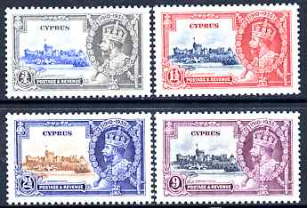 Cyprus 1935 KG5 Silver Jubilee set of 4, mounted mint SG 144-7