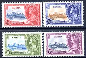 Gambia 1935 KG5 Silver Jubilee set of 4, mounted mint SG 143-6