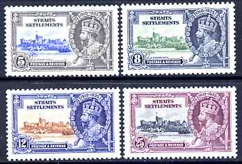 Malaya - Straits Settlements 1935 KG5 Silver Jubilee set of 4, mounted mint SG 256-9