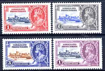 Somaliland 1935 KG5 Silver Jubilee set of 4, mounted mint SG 86-9