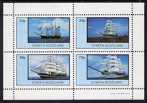 Staffa 1981 Tall Ships perf  set of 4 values (10p to 75p) unmounted mint