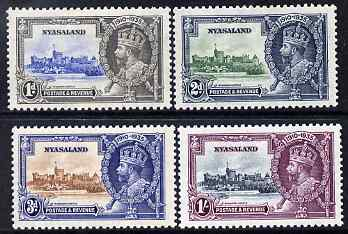 Nyasaland 1935 KG5 Silver Jubilee set of 4, mounted mint SG 123-6
