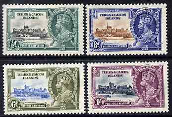 Turks & Caicos Islands 1935 KG5 Silver Jubilee set of 4, mounted mint SG 187-90