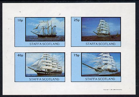 Staffa 1981 Tall Ships imperf  set of 4 values (10p to 75p) unmounted mint