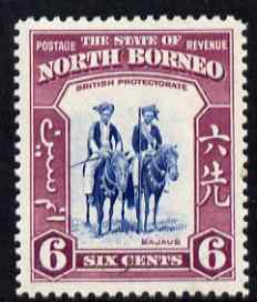North Borneo 1939 Mounted Bajaus 6c (from def set) lightly mounted mint, SG 307