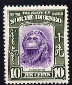 North Borneo 1939 Orang-Utan 10c (from def set) lightly mounted mint, SG 309