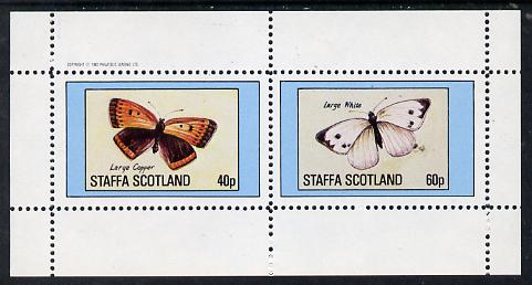 Staffa 1982 Butterflies (Large Copper & Large White) perf  set of 2 values (40p & 60p) unmounted mint