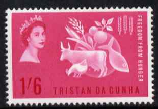 Tristan da Cunha 1963 Freedom From Hunger 1s6d unmounted mint, SG 68
