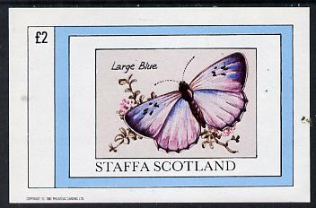 Staffa 1982 Butterflies (Large Blue) imperf deluxe sheet (�2 value) unmounted mint