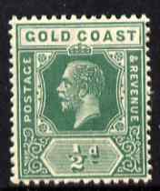 Gold Coast 1921-34 KG5 Script CA 1/2d green unmounted mint SG 86