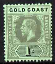 Gold Coast 1913-21 KG5 1s black on green (emerald back) MCA unmounted mint SG 79d