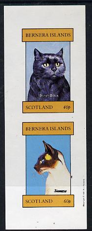Bernera 1981 Cats (British Black & Siamese) imperf  set of 2 values (40p & 60p) unmounted mint